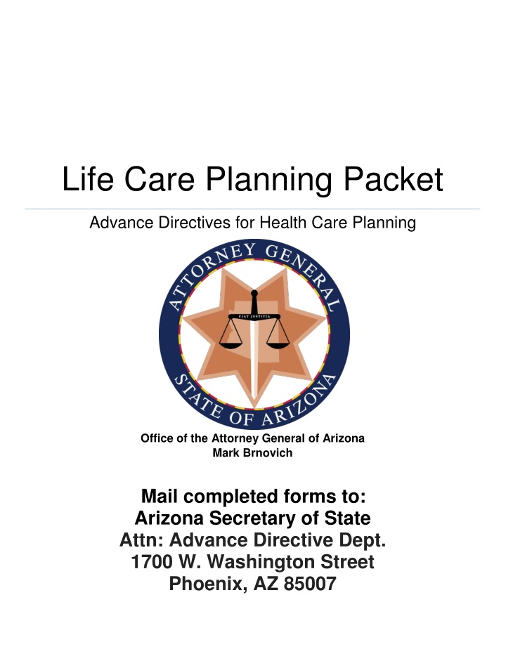 life care planning packet