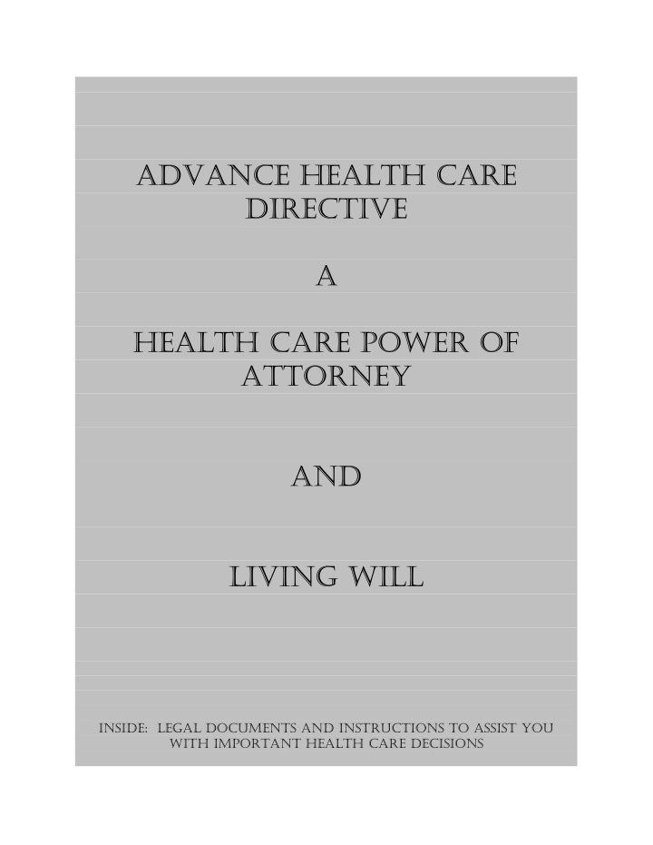 advance health care advance health care directive