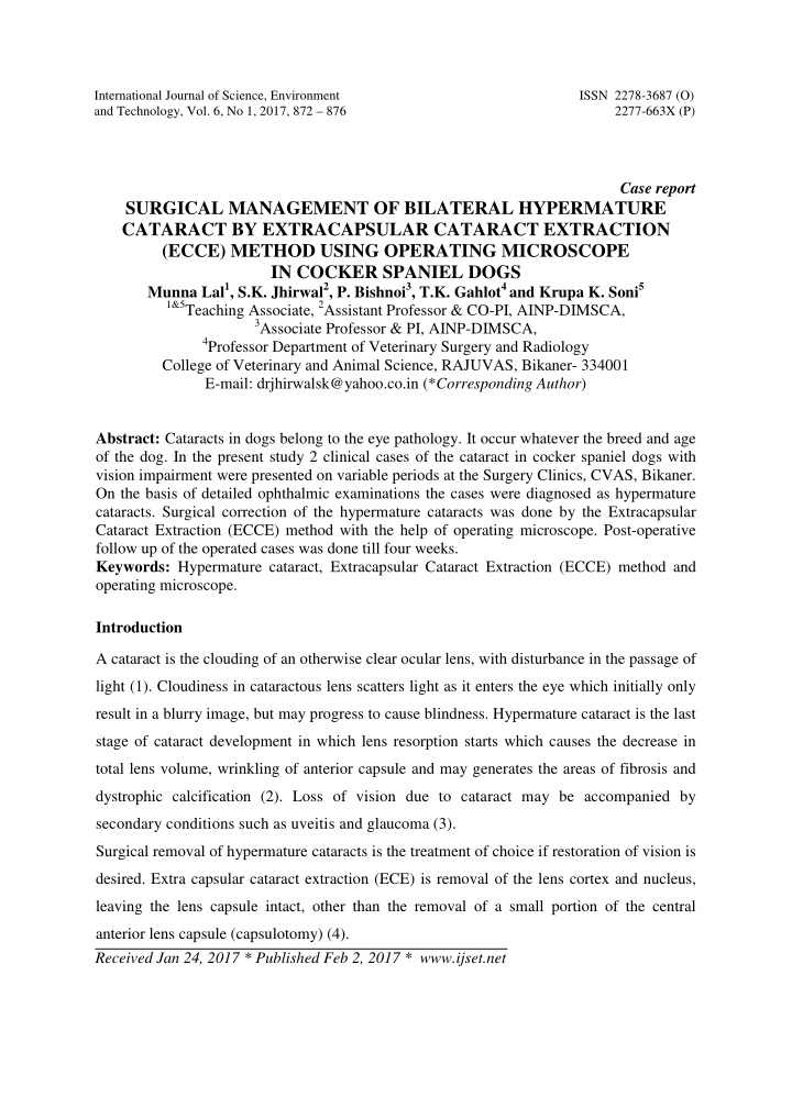 international journal of science environment issn