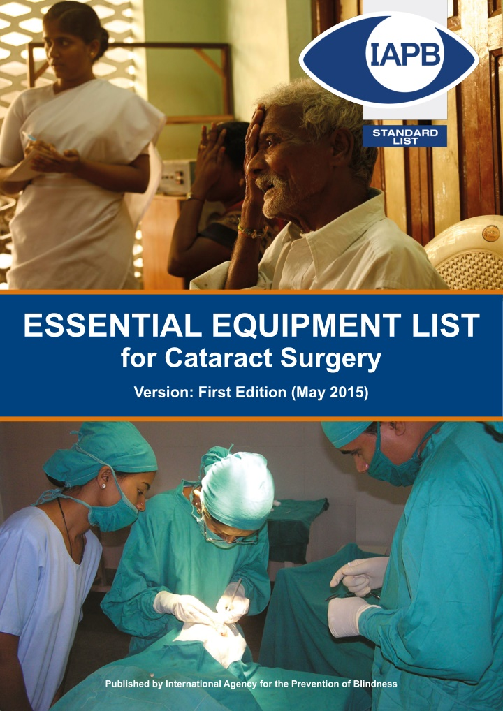 essential equipment list for cataract surgery