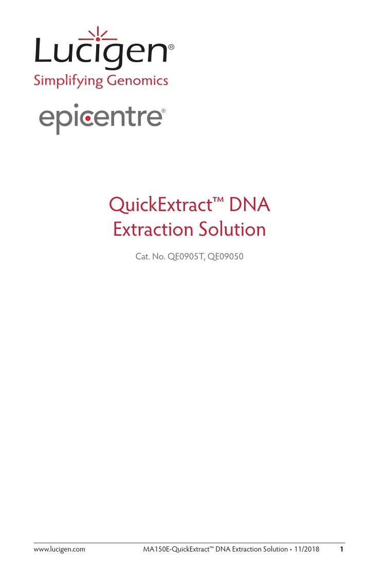 quickextract dna extraction solution