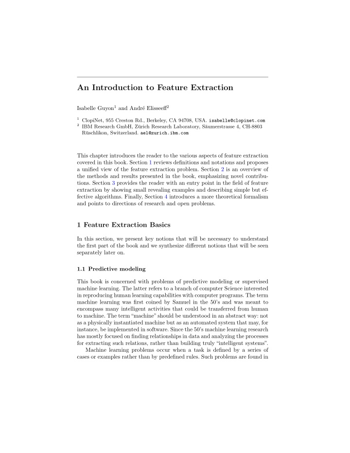 an introduction to feature extraction