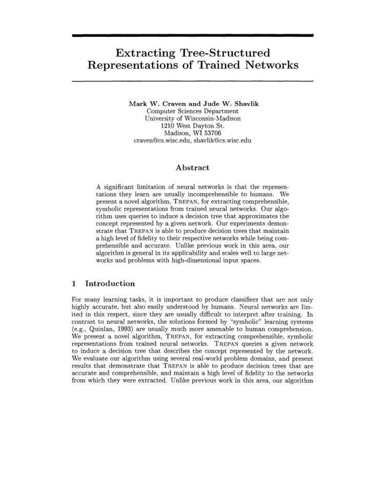 extracting thee structured representations