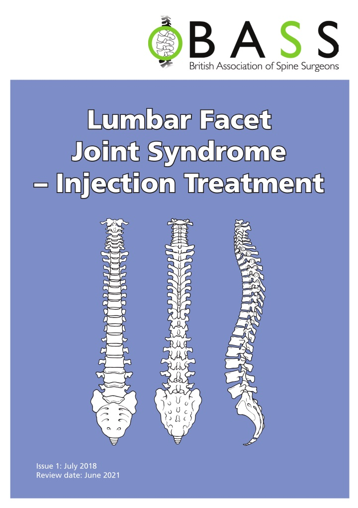 lumbar facet joint syndrome injection treatment