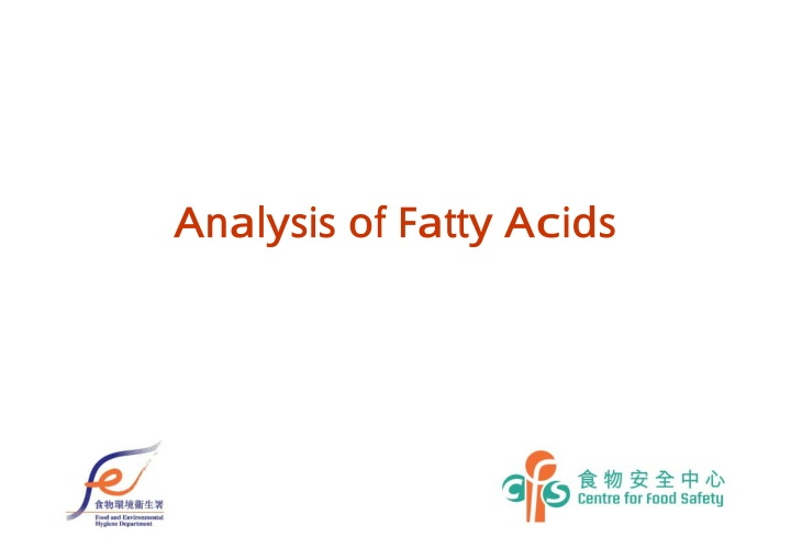 analysis of fatty acids
