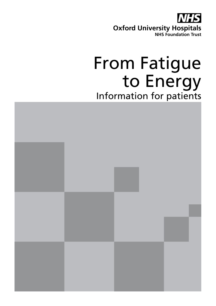 from fatigue to energy information for patients