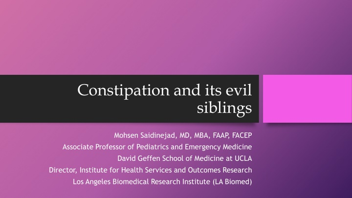 constipation and its evil