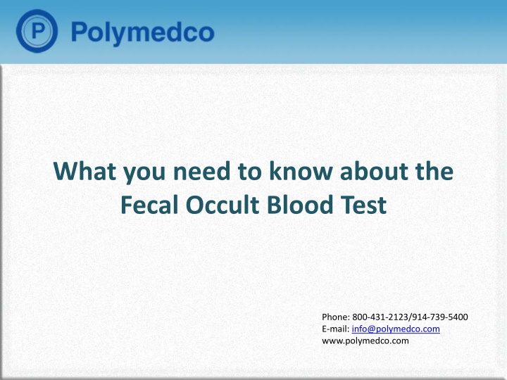 what you need to know about the fecal occult