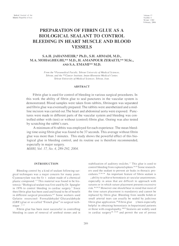 icdical journal of the l bmic republic of imn
