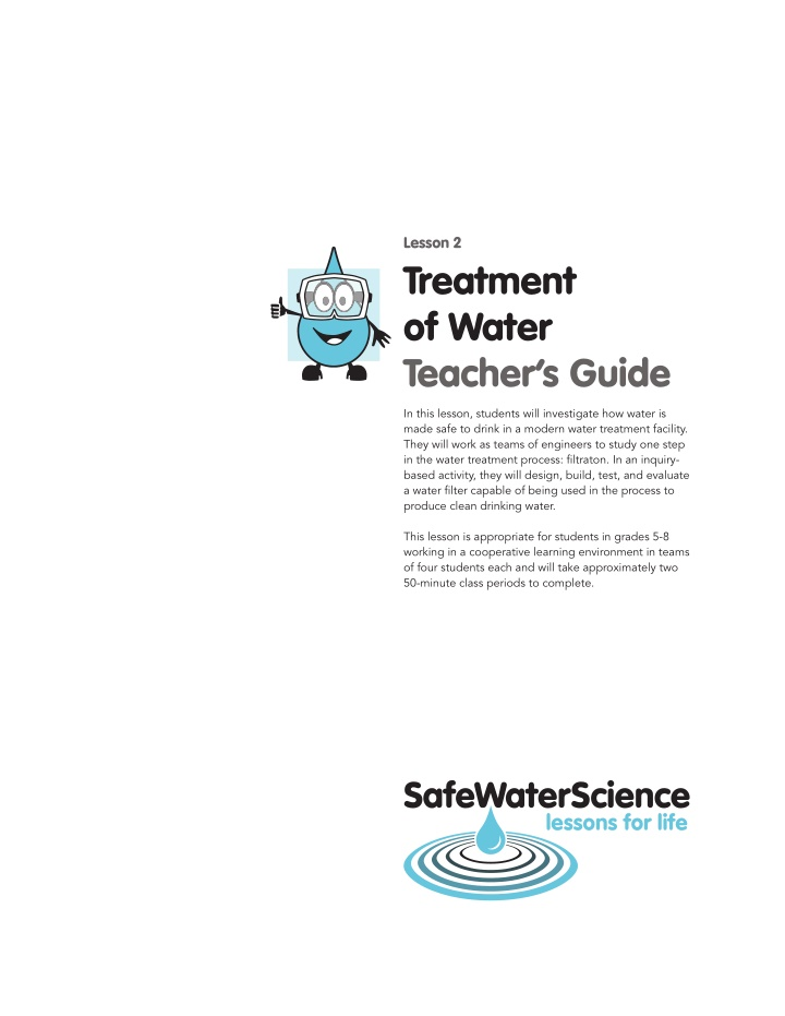 lesson 2 treatment of water teacher s guide