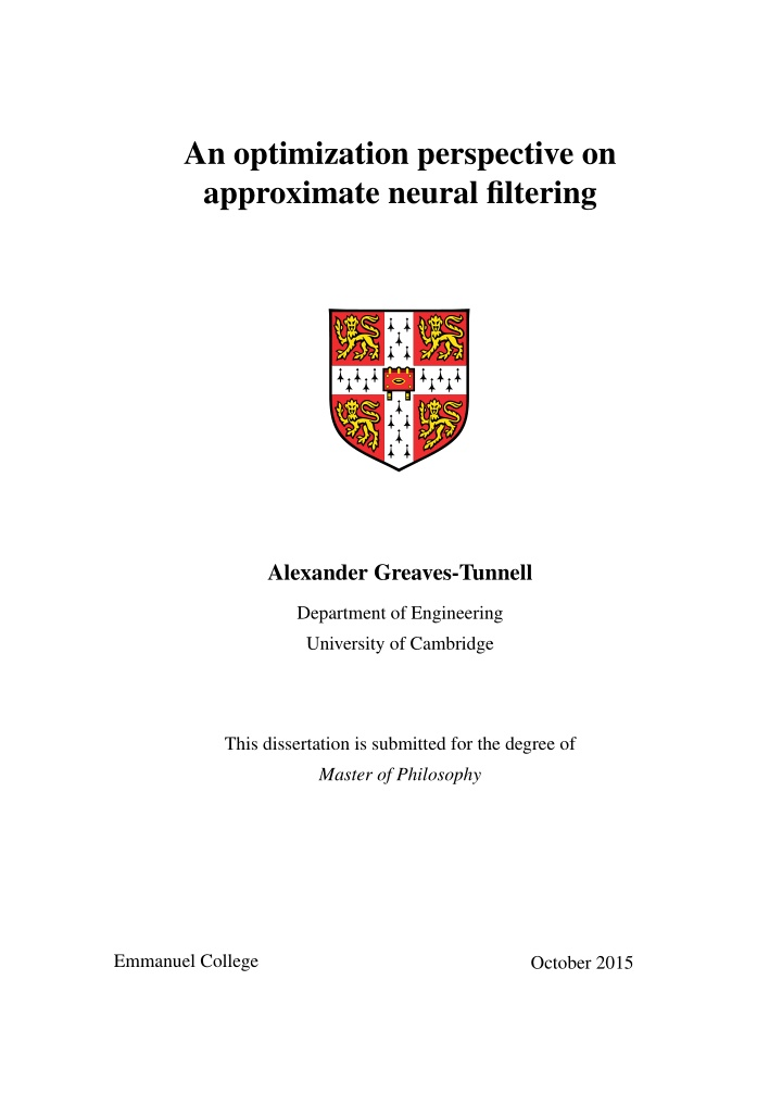an optimization perspective on approximate neural
