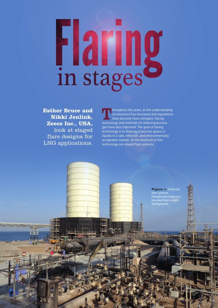 flaring in stages