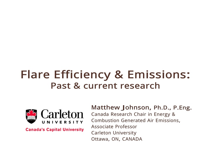 flare efficiency emissions past current research