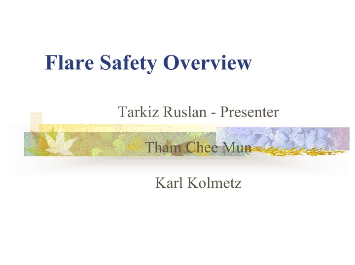 flare safety overview