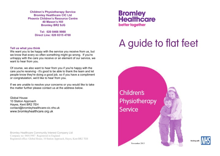 children s physiotherapy service bromley