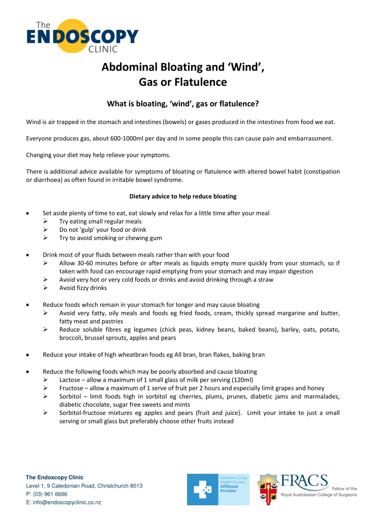abdominal bloating and wind gas or flatulence