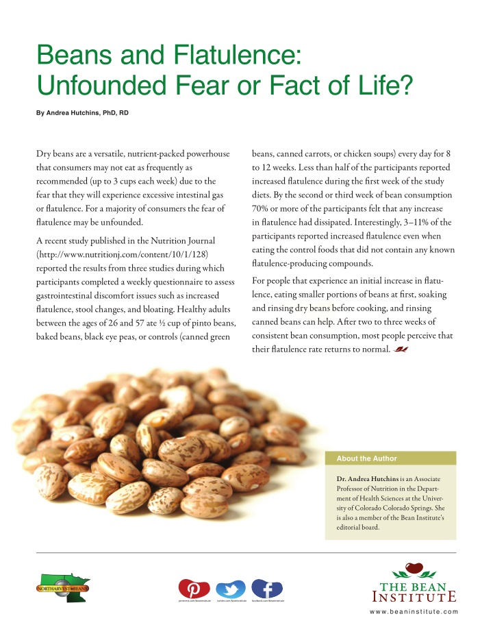 beans and flatulence unfounded fear or fact