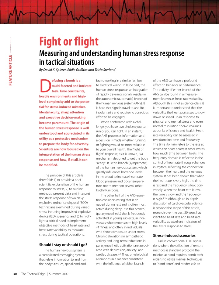 fight or flight measuring and understanding human