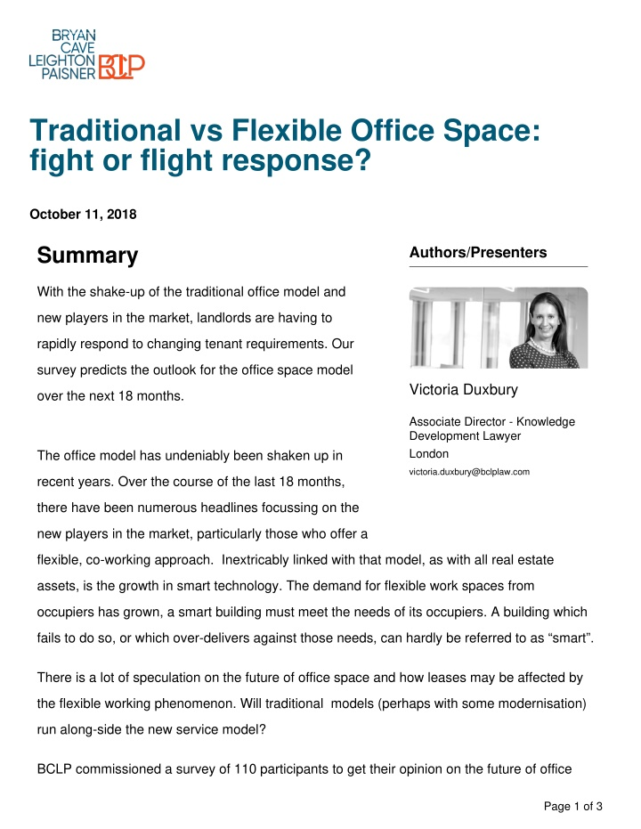 traditional vs flexible office space
