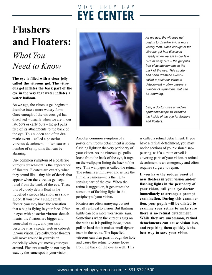 flashers and floaters what you need to know