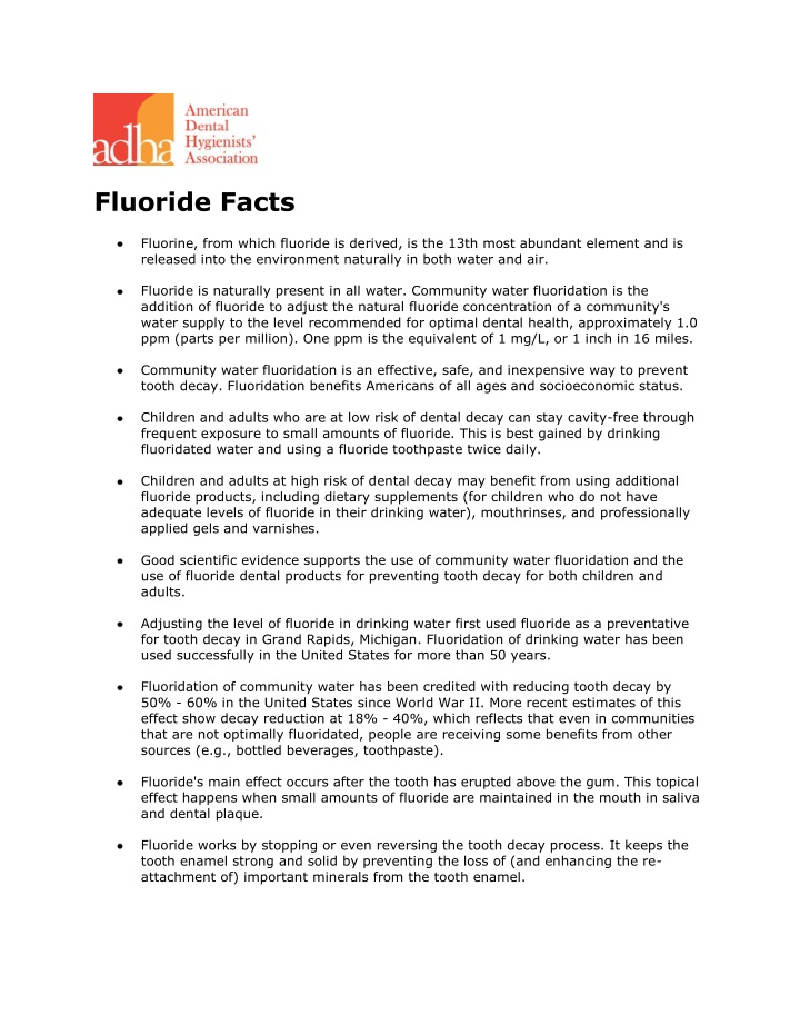 fluoride facts