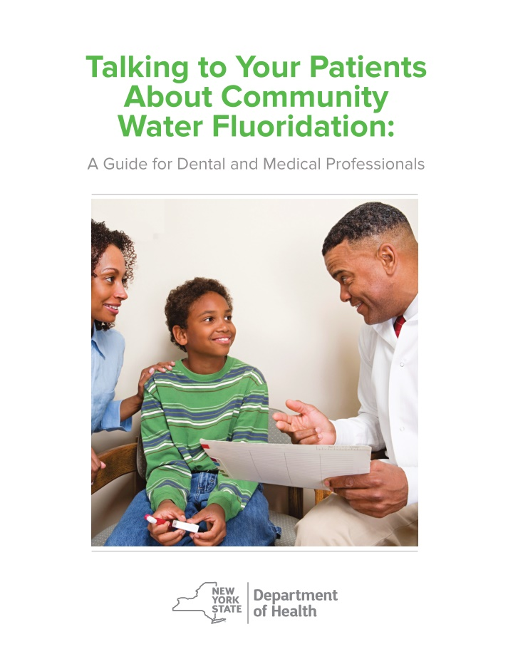 talking to your patients about community water