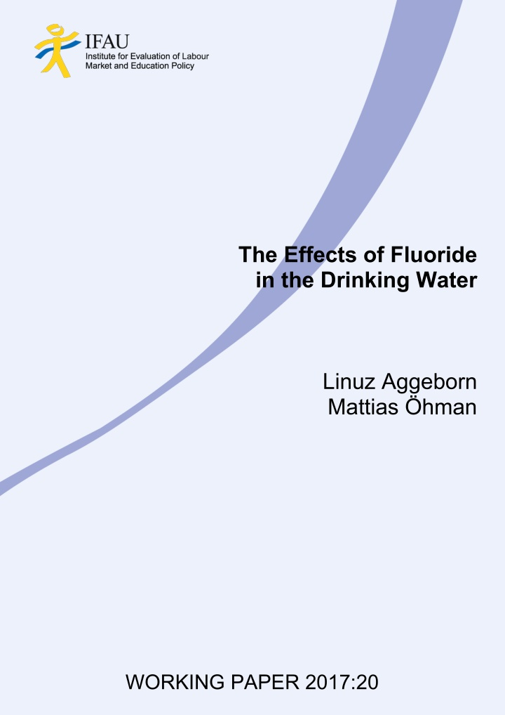 the effects of fluoride in the drinking water