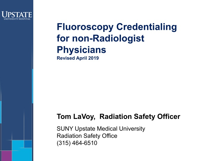 fluoroscopy credentialing for non radiologist