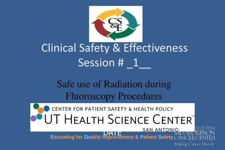 clinical safety effectiveness session 1