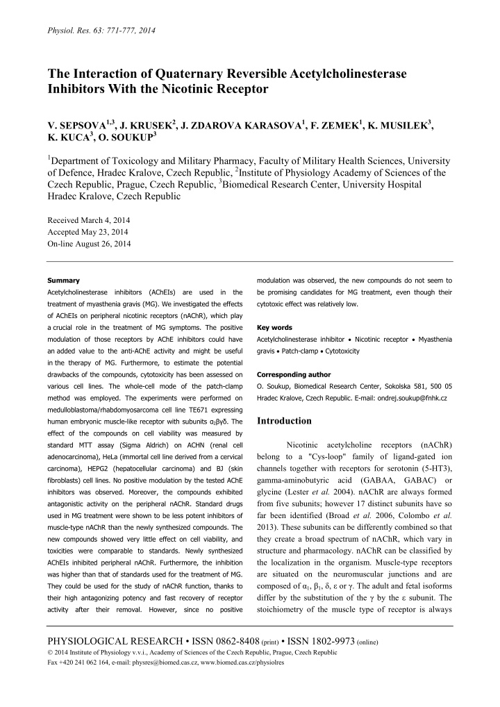 physiol res 63 771 777 2014 the interaction