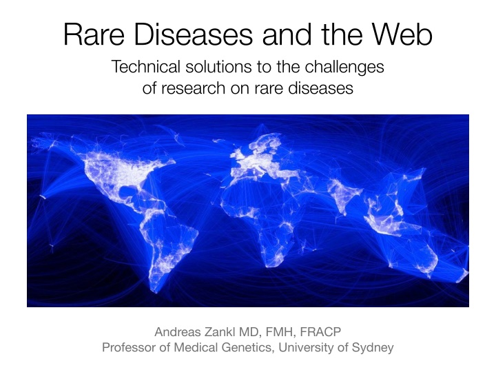 rare diseases and the web technical solutions