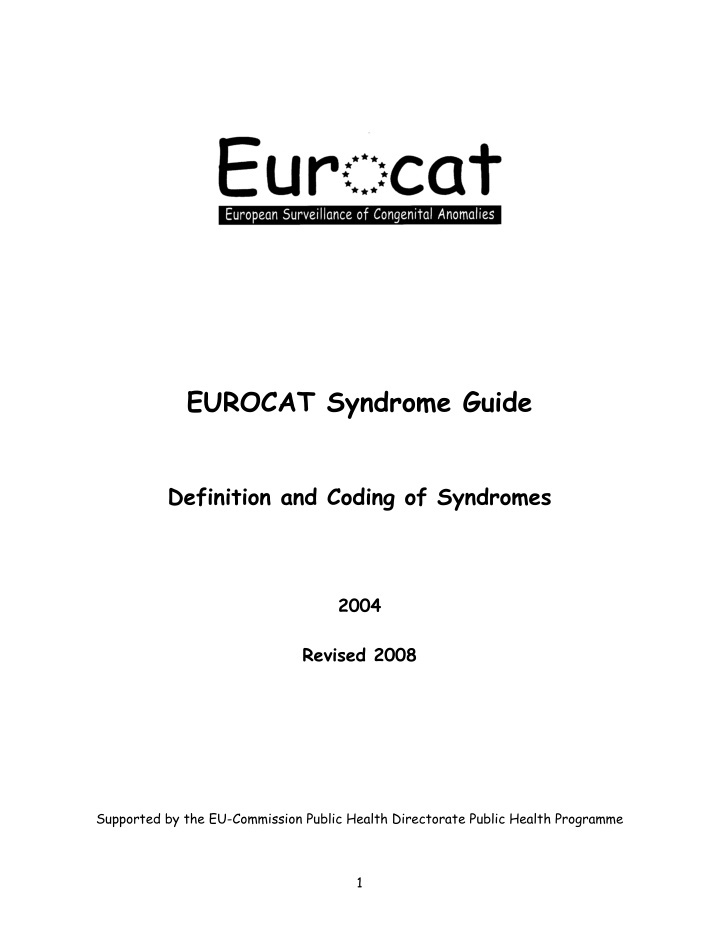 eurocat syndrome guide