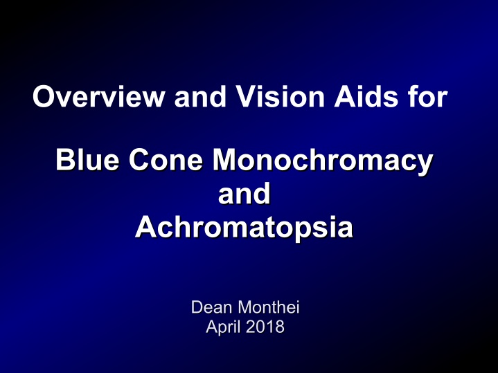 overview and vision aids for