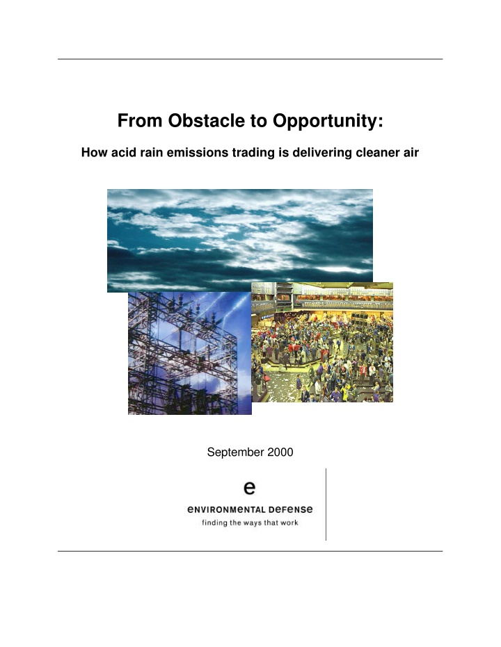 from obstacle to opportunity