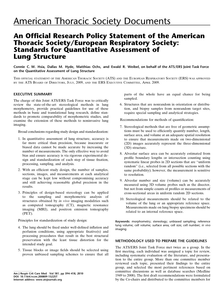 american thoracic society documents