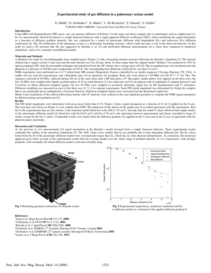 experimental study of gas diffusion