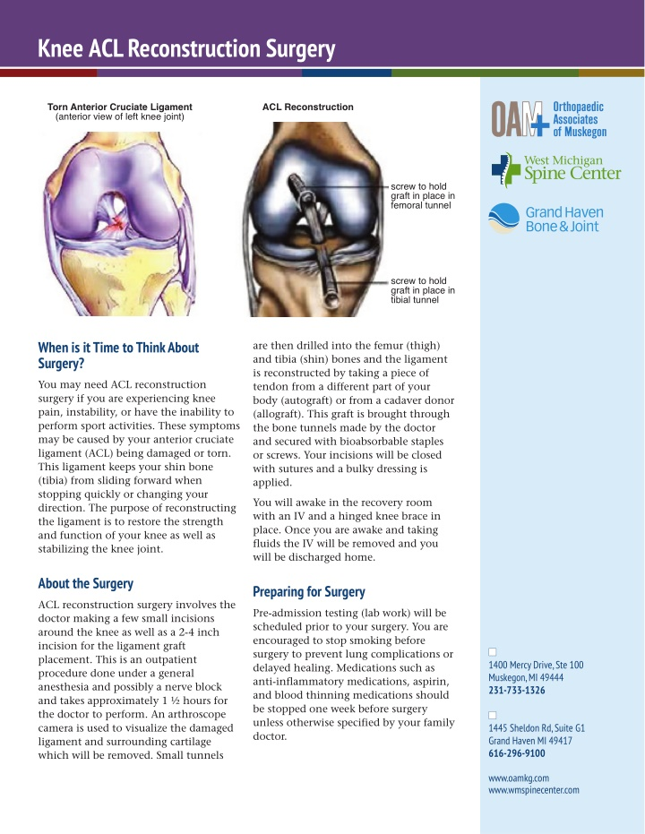 knee acl reconstruction surgery