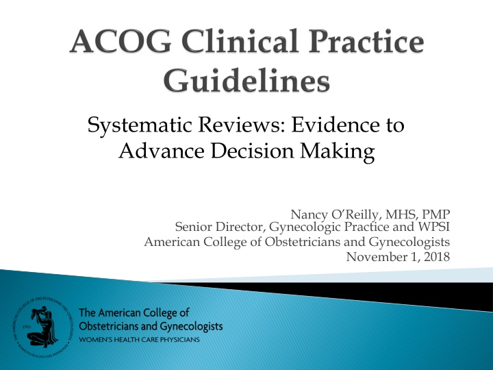 systematic reviews evidence to advance decision