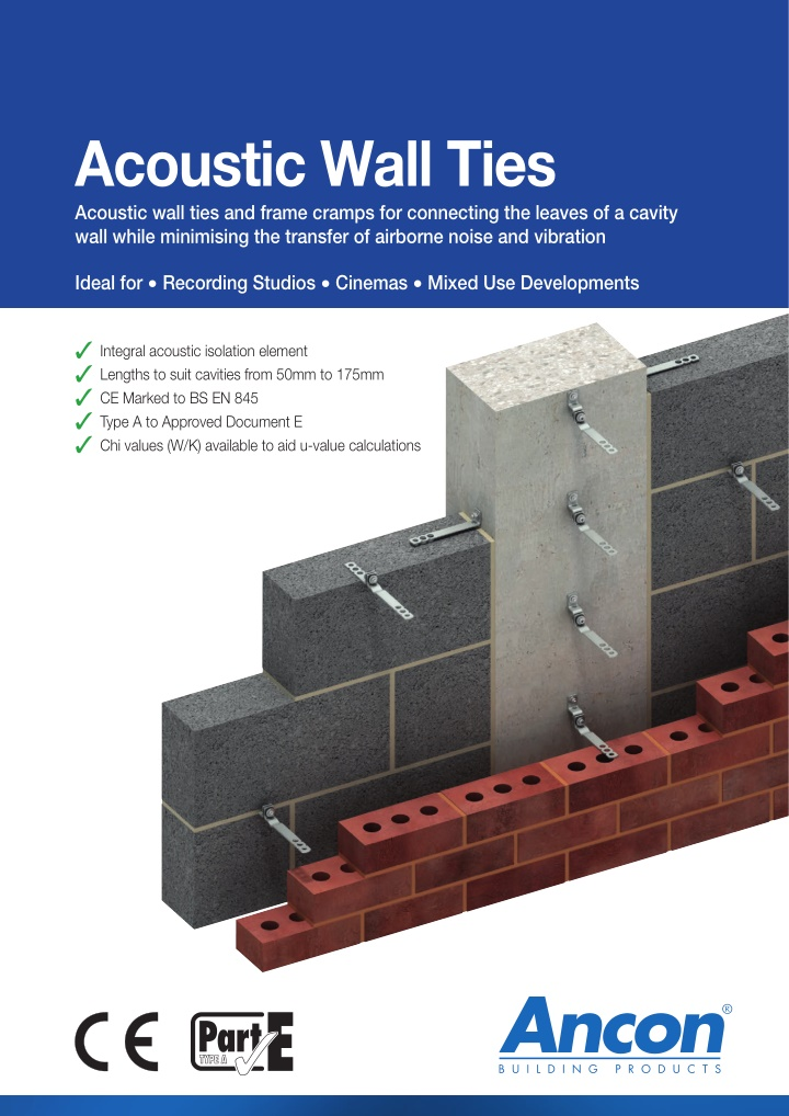 acoustic wall ties acoustic wall ties and frame