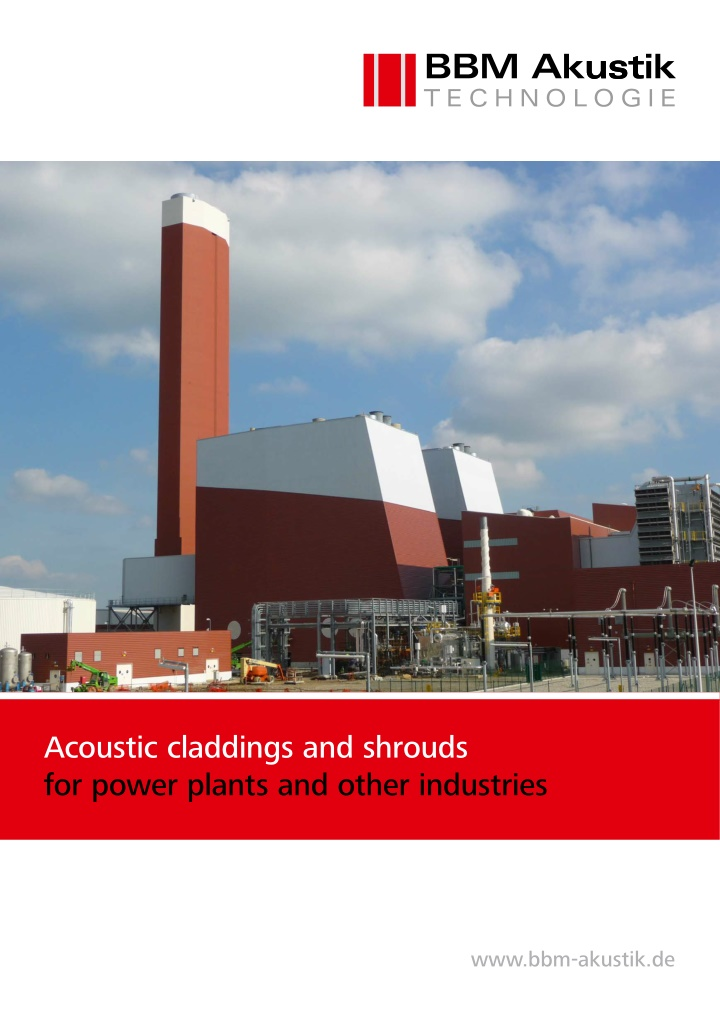 acoustic claddings and shrouds for power plants