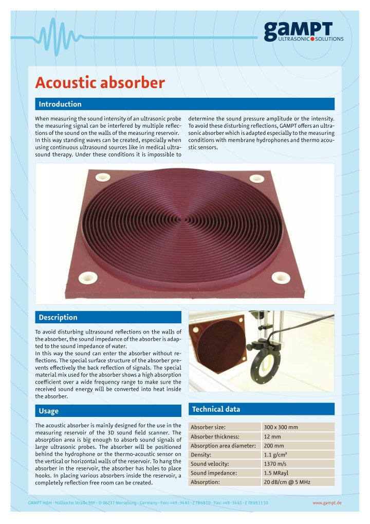 acoustic absorber