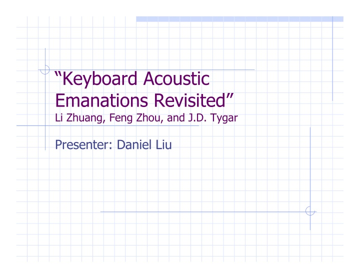 keyboard acoustic emanations revisited li zhuang