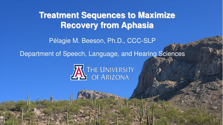 treatment sequences to maximize recovery from