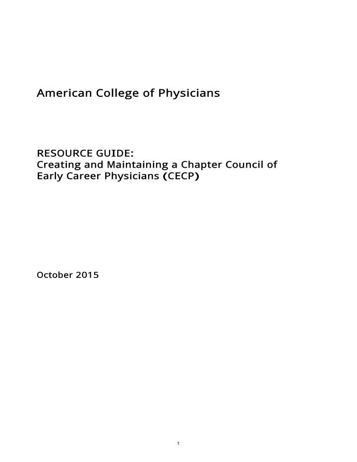 american college of physicians resource