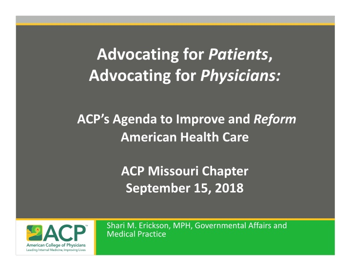 advocating for patients advocating for physicians