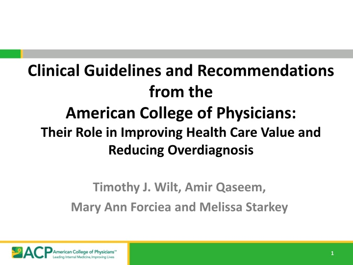 clinical guidelines and recommendations from
