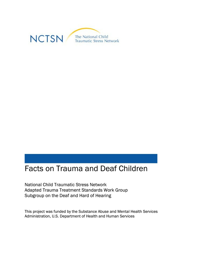 facts on trauma and deaf children national child