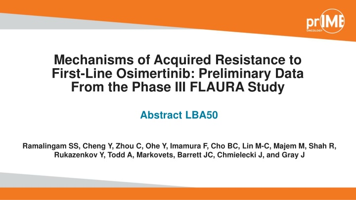 mechanisms of acquired resistance to first line