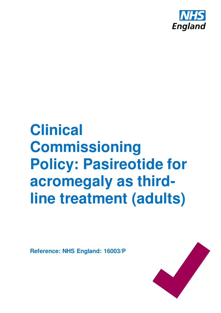 clinical commissioning policy pasireotide