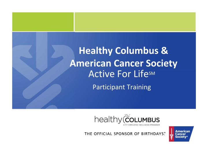 healthy columbus american cancer society active